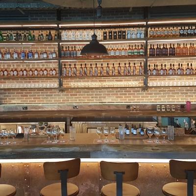 The bar inside the J.P. Wiser's Brand Centre.